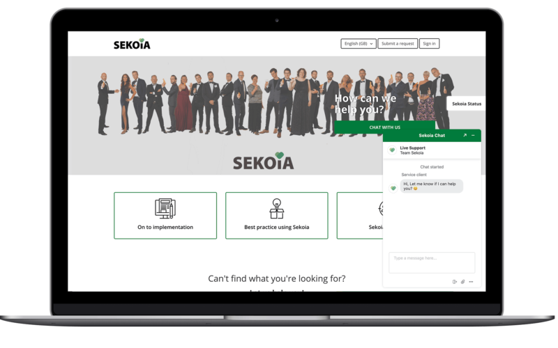 Live chat with Sekoia