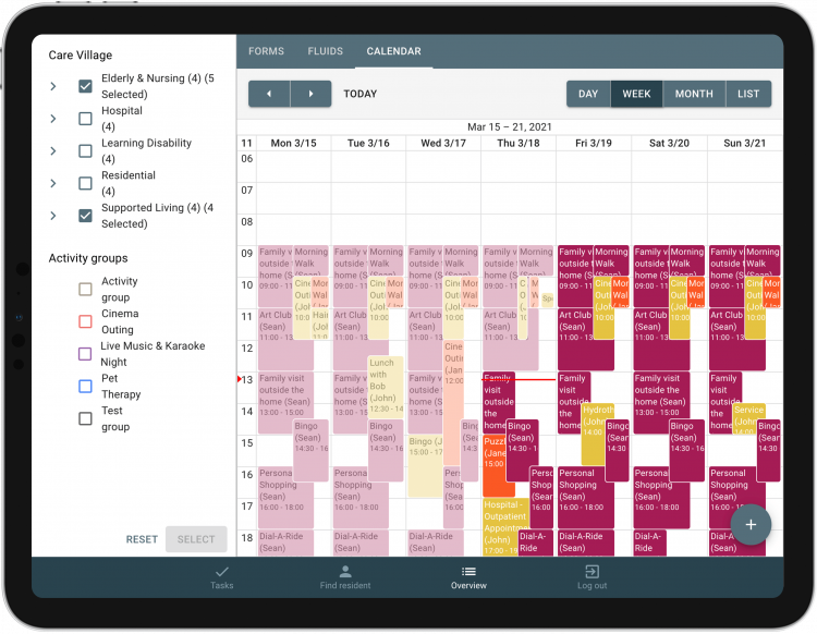 Calendar function in Sekoia