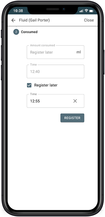 Register at a later time